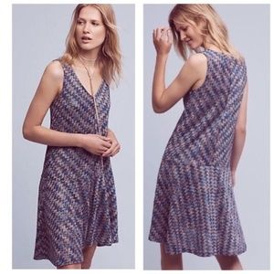 ANTHROPOLOGIE Maeve Westwater Chevron Knit Dress